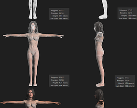 3D asset Female Body Character