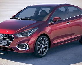 Hyundai Accent 2018 3D model
