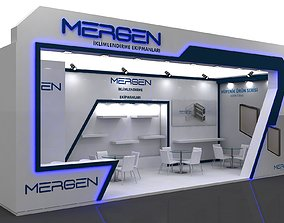 Exhibition Stall Size 10 m x 4 m Height 366 cm 3D model