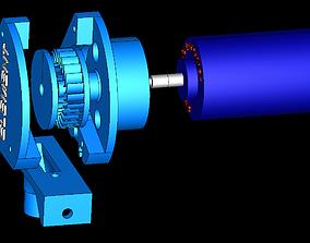 3D printable model Cross-Flow Turbine Horizontial Full