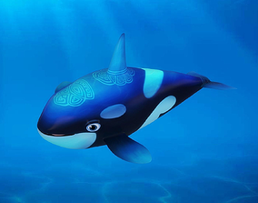 Cartoon Whale 3D model