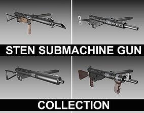 STEN Submachine gun - Collection 3D
