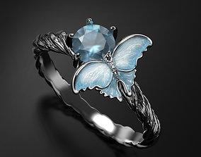 Pure Ice enamel ring 3D print model