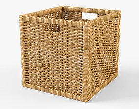 Wicker Rattan Basket 07 Natural 3D