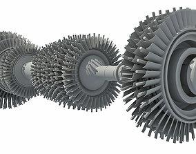 3D model Aircraft Turbine