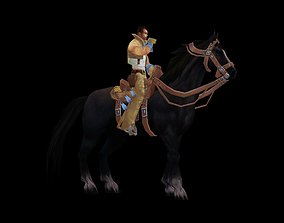 Riding prince and knight 3D model