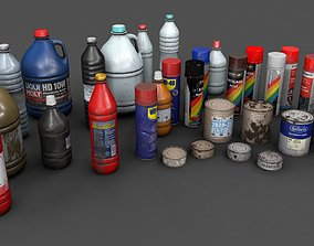 various container 3D model