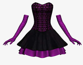 Corset Dress 3D asset VR / AR ready