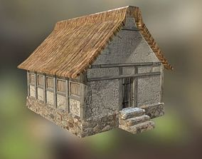 3D Low-poly rural house