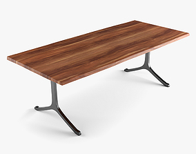 3D asset Walnut Dining Table
