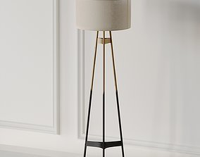 BRACE OMBRE FLOOR LAMP CB2 Exclusive 3D