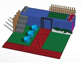 3D printable model Shipping Container Home with Rooftop