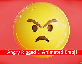 3D model realtime Mad or Angry Animated Emoji Reaction