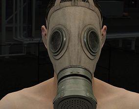 3D German Gas mask WWI model M1917