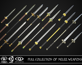 3D model PBR Full Collection of Melee Weapons
