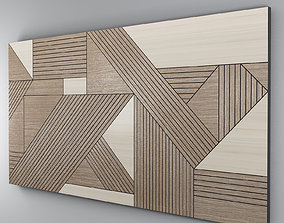 BLACK GEOMETRIC WOOD 3D
