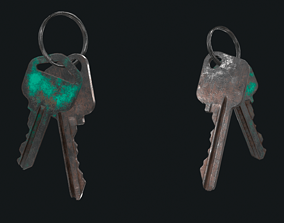 3D model HQ PBR Keychains