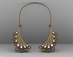 isolated Necklace 3D asset VR / AR ready