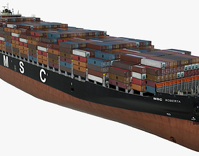 Container ship MSC Roberta Low-poly 3D model