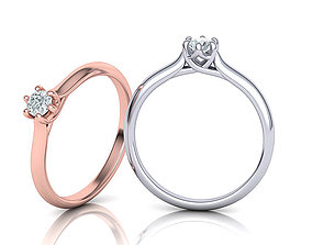 Six Prong Trellis Solitaire Engagement Ring 2