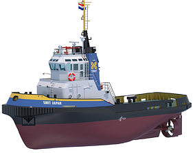 3D Harbour Tug Smit Japan 40564 watercraft