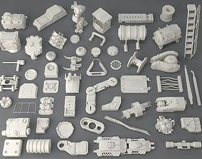Kit bash - 54 pieces - collection-4 3D
