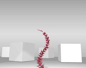 Wild Wine Vine - Parthenocissus - Autumn 3D asset 2