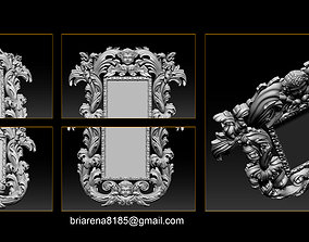 3D print model Mirror classical carved frame
