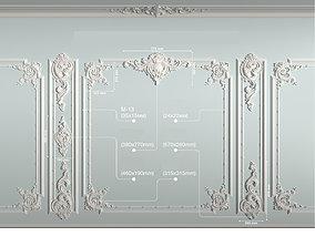 Decorative frame model 3D asset