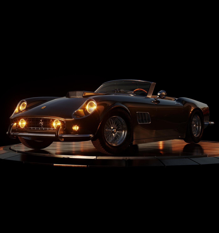 Ferrari 250 Gt Swb California Spyder With HQ Interior 3D model