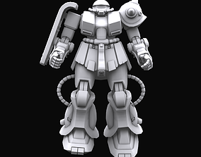 Gundam mobile suit MS MS06FZ model rigged