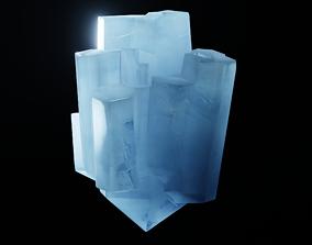 Aquamarine Crystal 3D asset
