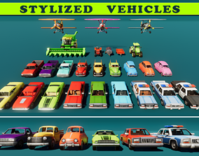 Stylized Vehicles 3D model