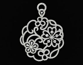 577 Diamond Flower Pendant HongKong 3D print model