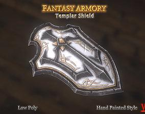 Medieval Fantasy Templar Shield 3D asset