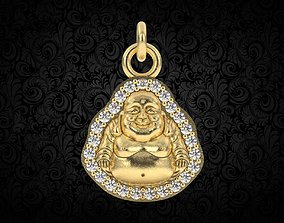 Jade Laughing Buddha charm pendant 3d print
