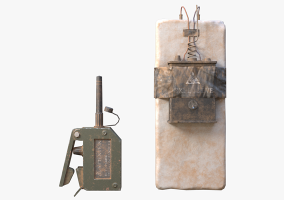 C4 Explosive and Detonator