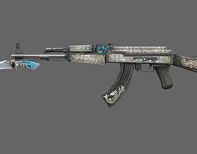 Ak47 VINTAGE 3D asset