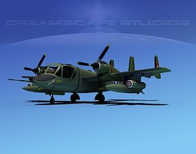 3D model Grumman OV-1D Mohawk V04