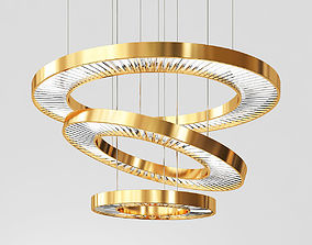 3D model Three tier Ring Chandelier chandelier