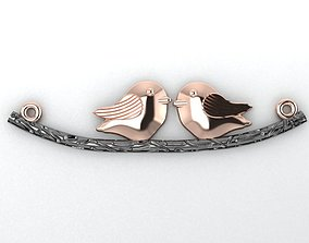 3D printable model birds on a branch necklace