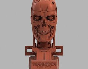 3D printable model Terminator T-800 Genisys Skull Bust V2