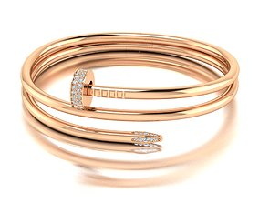 3D printable model Nail bracelet two lines