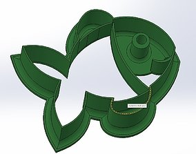 Happy fish cookie cutter 3D printable model