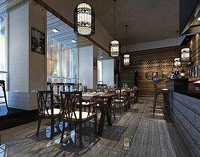 Business Restaurant - Coffee - Banquet 231 3D model