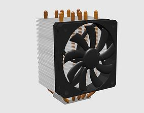 3D model Cpu Cooler Original Size and Animation