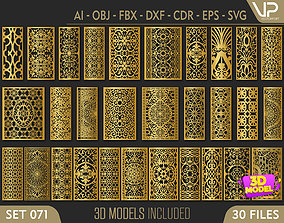 30 3D Decorative wall panels - screen SET 071