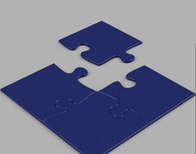 PUZZLE COASTER 3D printable model