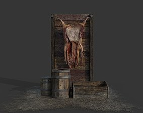 Medieval Meat Stall 3D asset