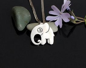 3D printable model Elephant pendant Jewelry STL and OBJ